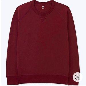 UNIQLO Red Crew Neck Long Sleeve Sweatshirt